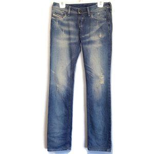 Diesel Lowky Straight Low Rise Distressed Jeans